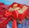 Sweet cookies in box with red bow - PhotoDune Item for Sale