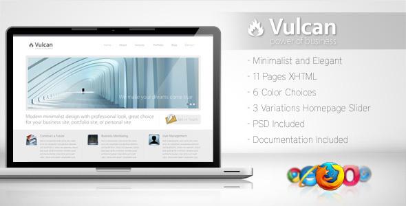ThemeForest Vulcan Minimalist Business Template 4 106798