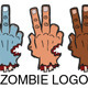 Zombie Inspired Cartoon Logo - GraphicRiver Item for Sale