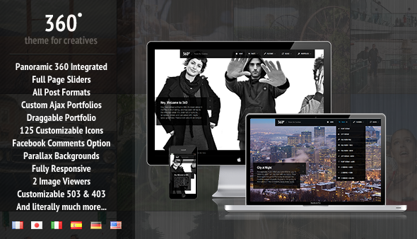 360 - Panoramic WordPress Theme