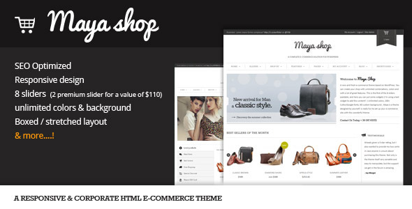 MayaShop HTML - Flexible e-Commerce theme
