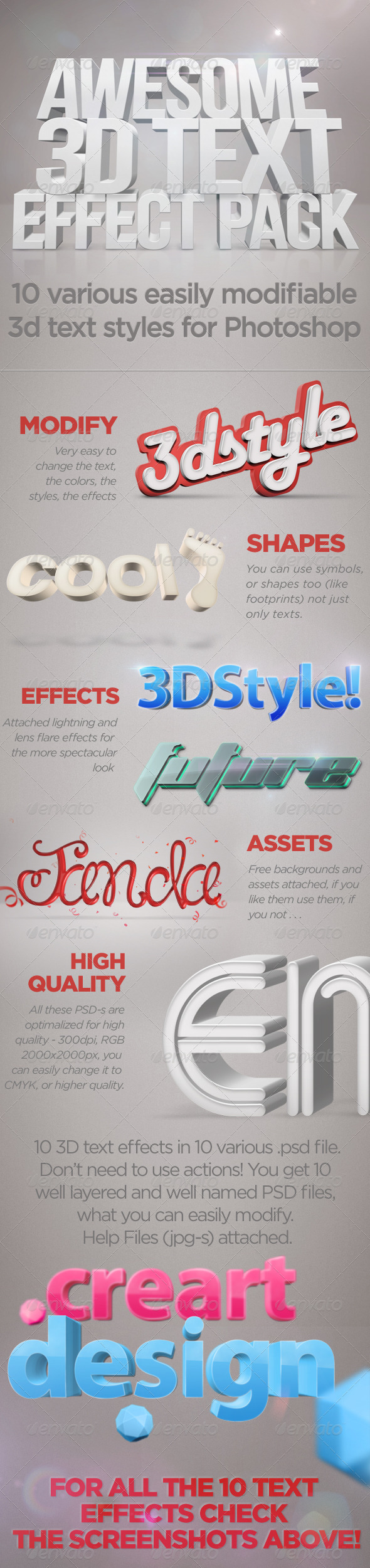 3D Text Effects - Text Effects Actions
