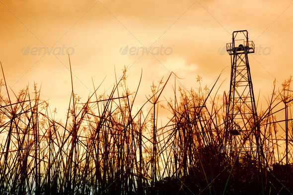old oil tower - Stock Photo - Images