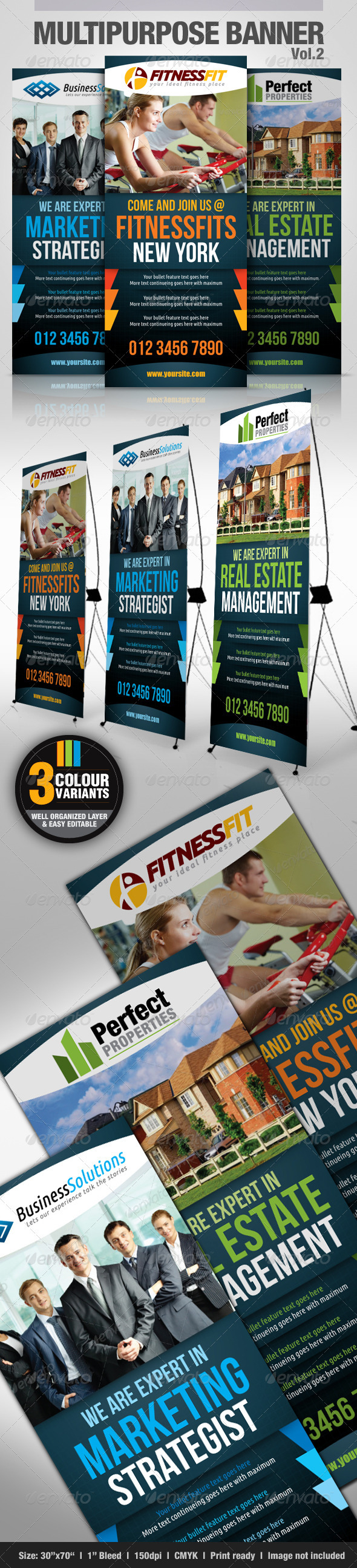 Multipurpose Banner Vol.2 - Signage Print Templates
