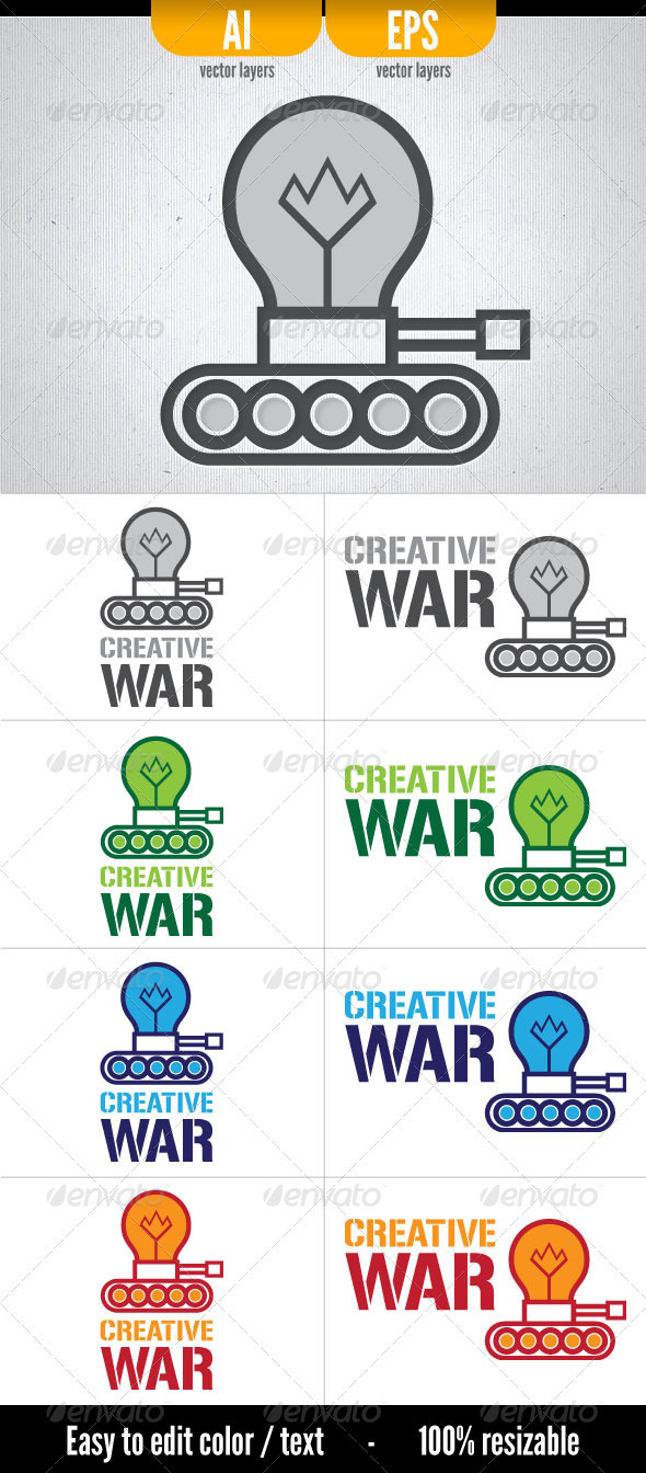 Creative War - Logo Template - Objects Logo Templates