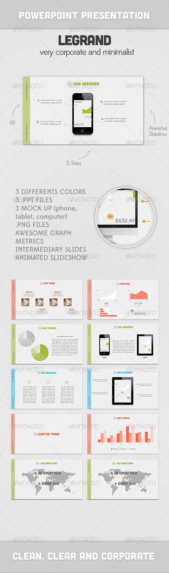 GraphicRiver LEGRAND presentation 3043411