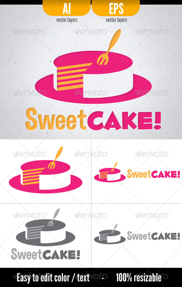 Sweet Cake! - Logo Template - Food Logo Templates