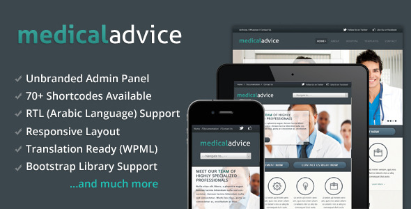 Medical Advice - Responsive WordPress Theme