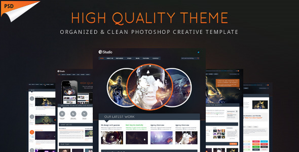ThemeForest 9studio Creative Unique PSD Theme 3033696
