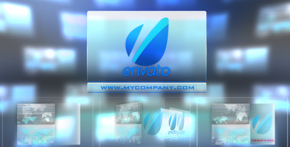 After Effects Project - VideoHive Hitech Touch Interface-Futuristic Logo St ...