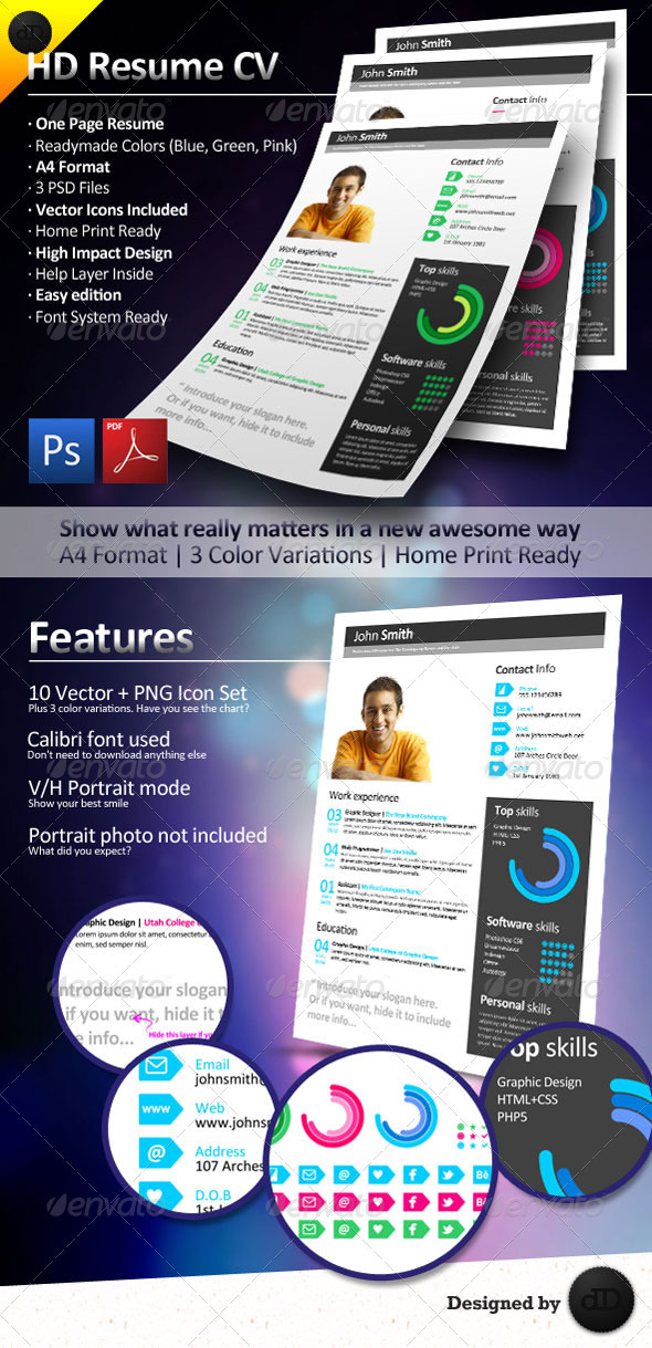 HD Resume CV - Resumes Stationery