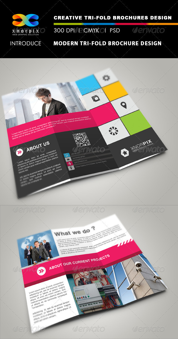 Modern Tri-fold Brochure - Corporate Brochures