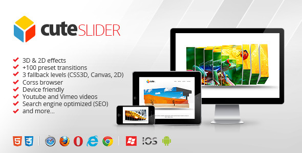 3D &#38; 2D HTML5 Image Slider