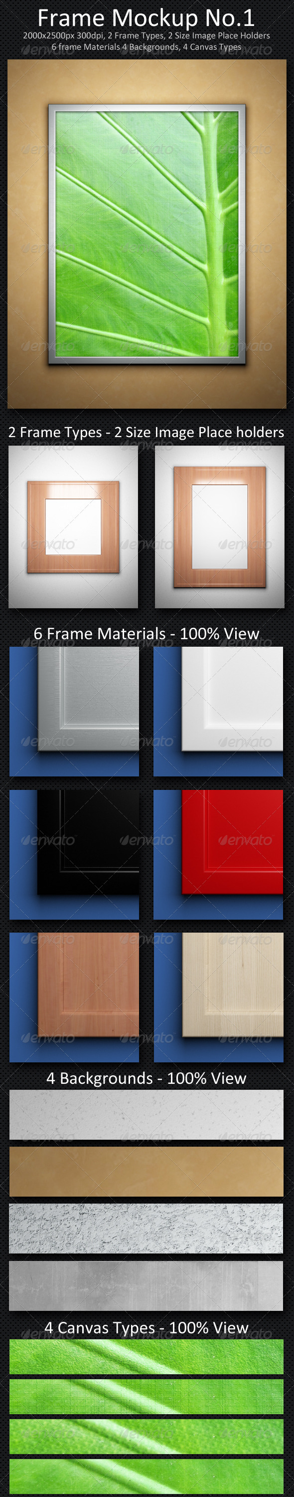 Frame Mock-up No.1 - Miscellaneous Displays