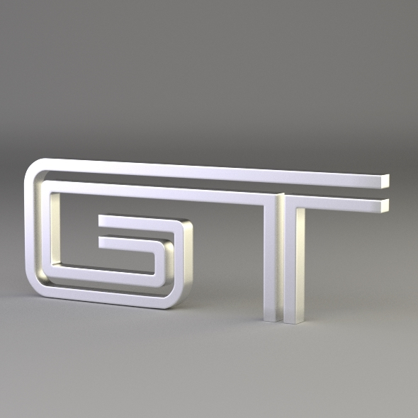GT Logo - 3DOcean Item for Sale