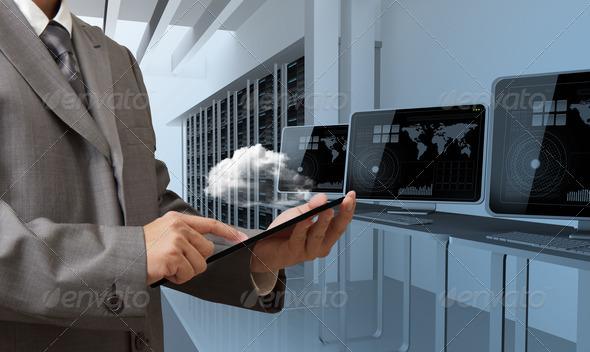 PhotoDune cloud network server concept 3047229