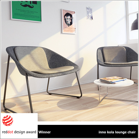 inno kola lounge chair + vray materials - 3DOcean Item for Sale