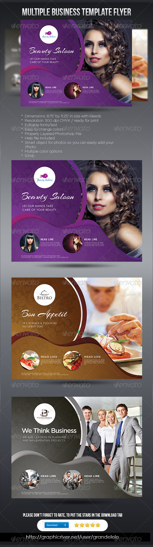 Multiple Business Template Flyer - Corporate Flyers