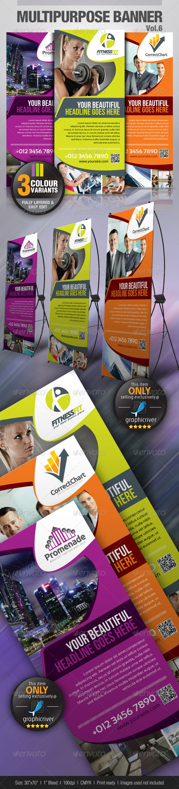 Multipurpose Banner Vol.5 - Signage Print Templates