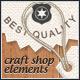Craft Shop - Retail Web Elements - GraphicRiver Item for Sale