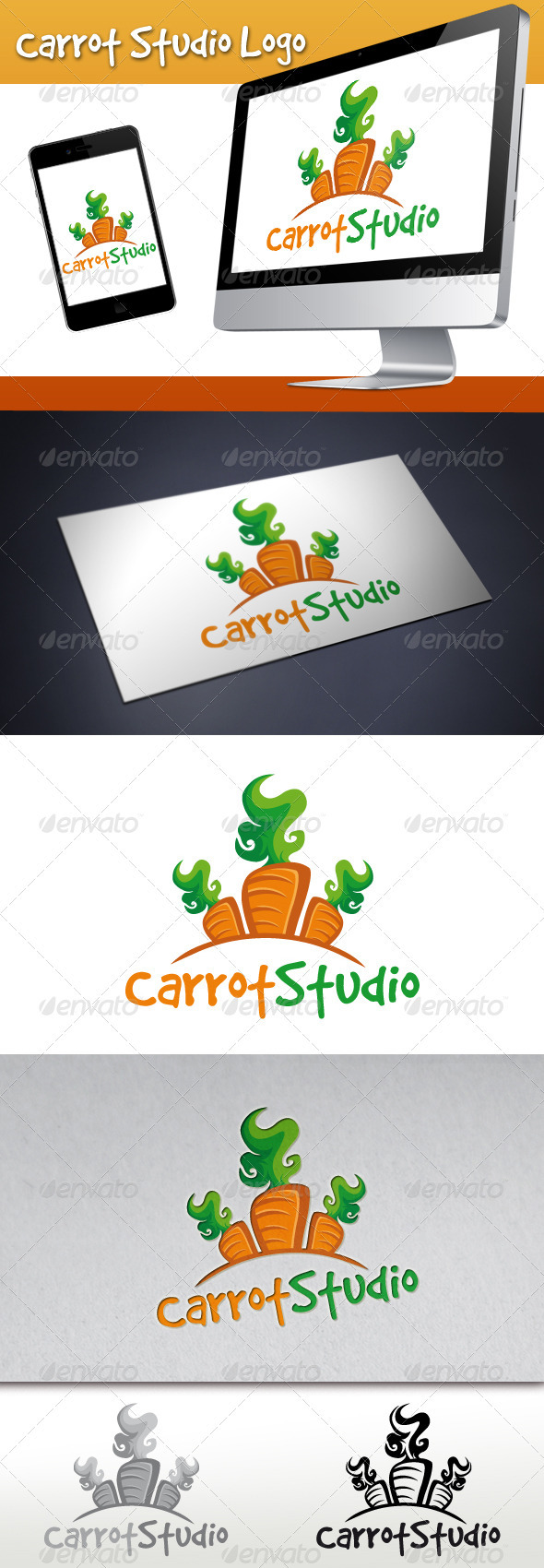 Carrot Studio Logo - Food Logo Templates