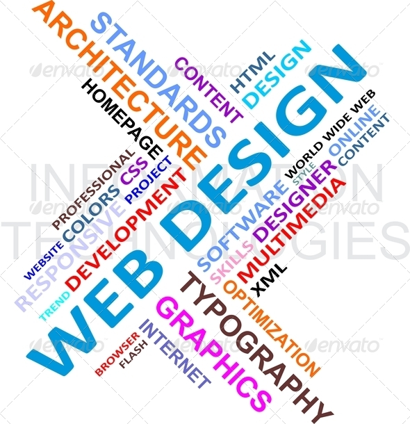 PhotoDune Word cloud web design 3053163
