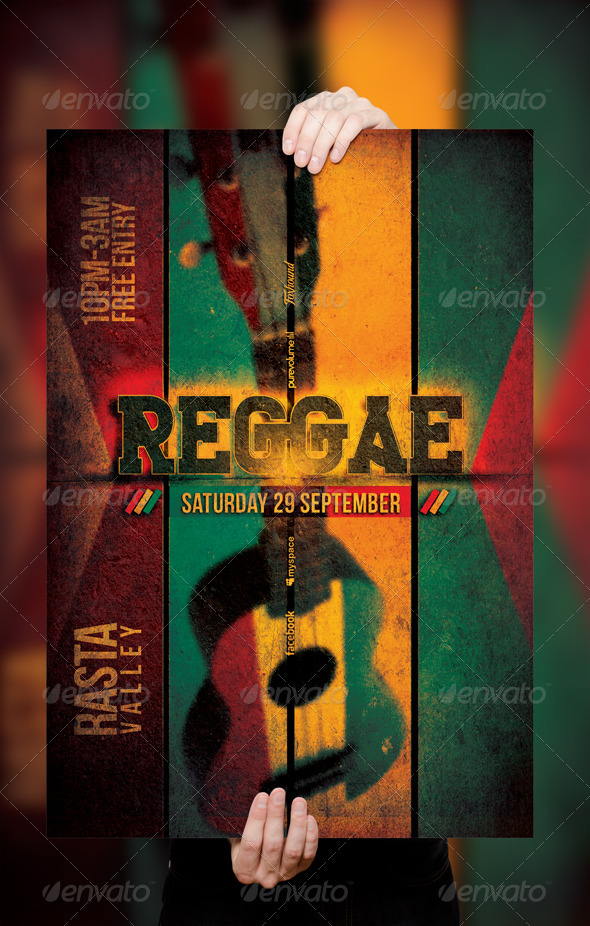 Reggae Poster / Flyer Template v.2 - Clubs & Parties Events