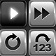 Media Player Icons Set V5 - ActiveDen Item for Sale