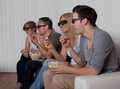 Family watching 3D television - PhotoDune Item for Sale