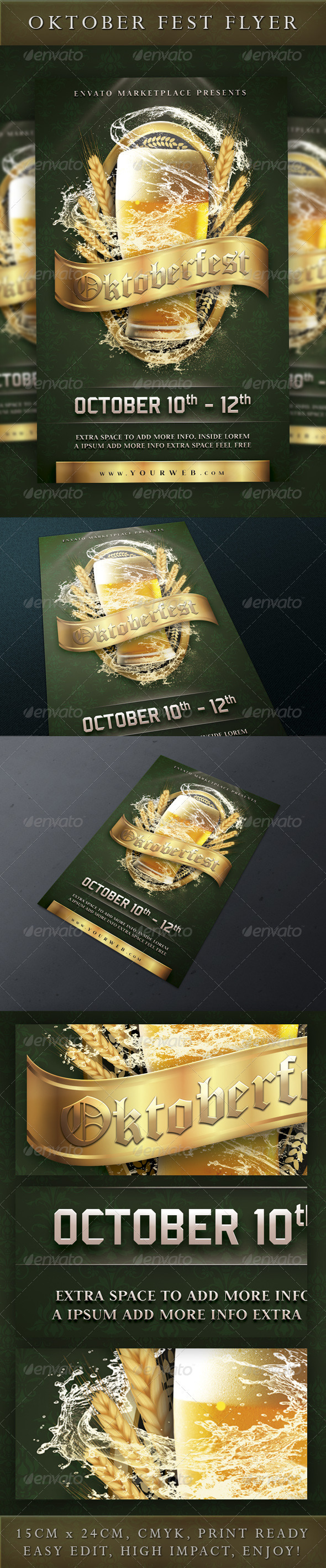 Oktoberfest Event Flyer Template - Holidays Events