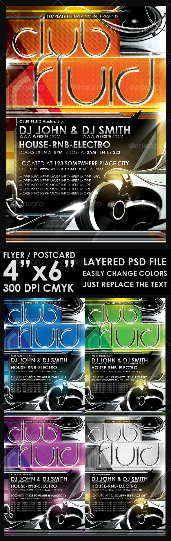 Modern Flyer Template - Clubs & Parties Events