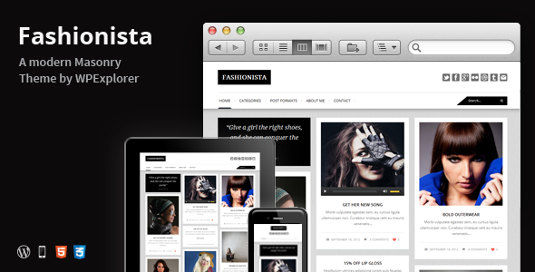 Fashionista - Responsive WordPress Blog Theme - Blog / Magazine WordPress
