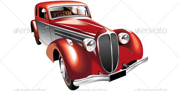 Luxurious vintage car - Retro Technology