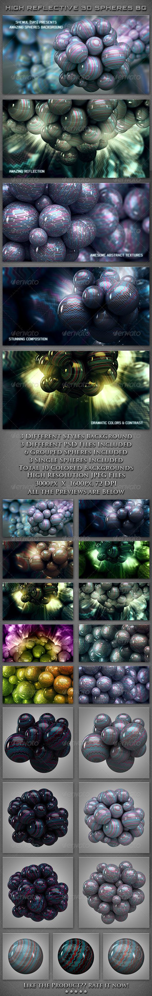 Reflective 3D Abstract Sphere Backgrounds - Abstract Backgrounds