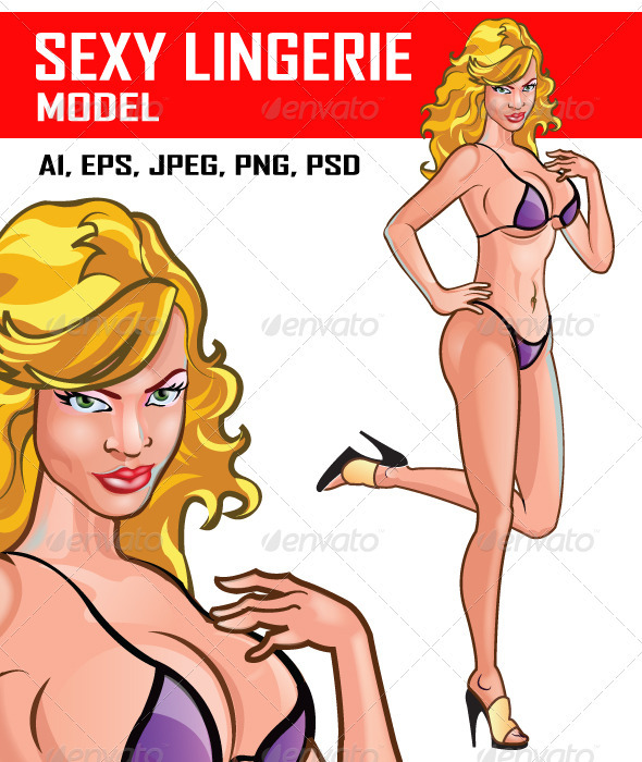 Sexy Lingerie Model - People Characters
