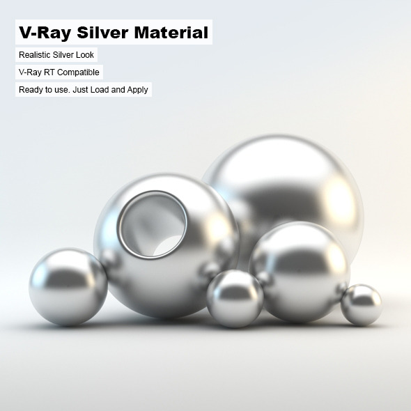 V-Ray Silver Material - 3DOcean Item for Sale