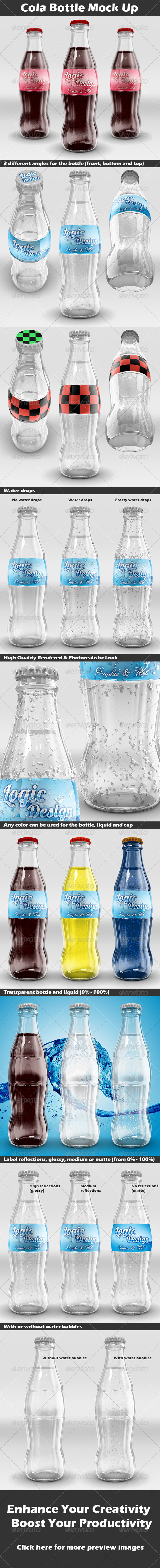 Cola Bottle Mock Up - Food and Drink Packaging