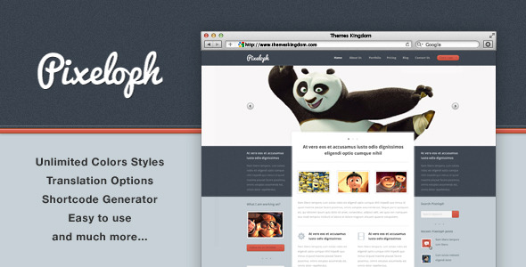 Pixeloph - Unique layout WordPress Theme