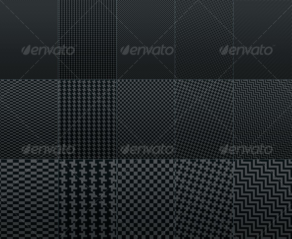 Fiber Carbon Pattern Background - Vol. 1 - Textures / Fills / Patterns Photoshop