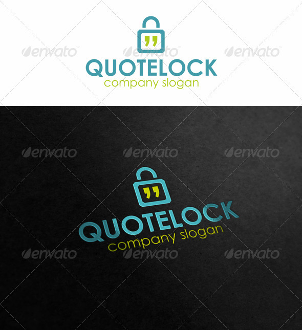Quote Lock - Symbols Logo Templates
