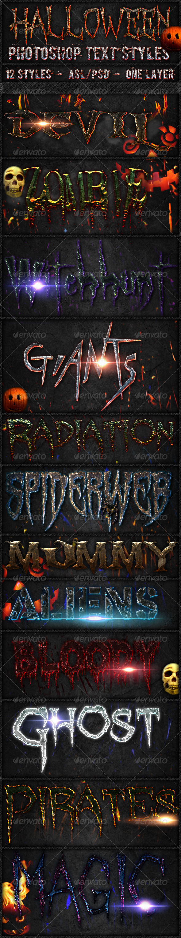Halloween - Text Styles - Text Effects Actions