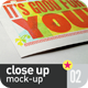 Close-Up Mock-Up - GraphicRiver Item for Sale
