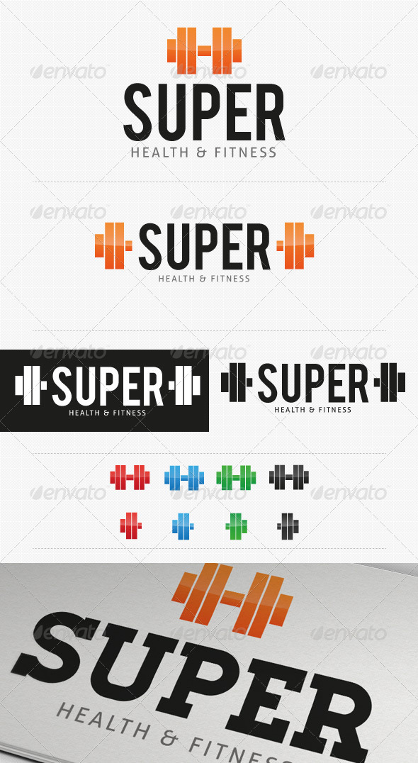 Super Gym Fitness logo - Objects Logo Templates