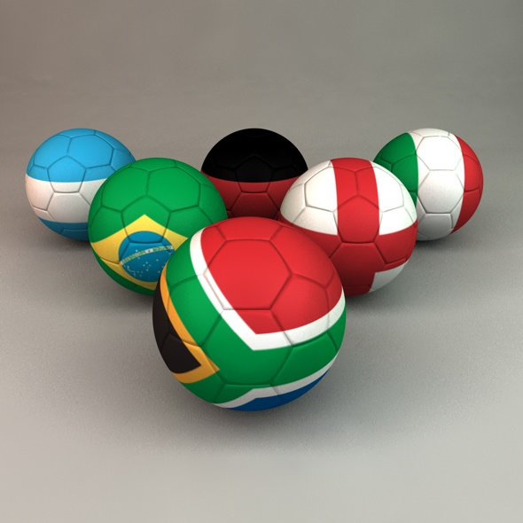 World Cup 2010 Footballs - 3DOcean Item for Sale