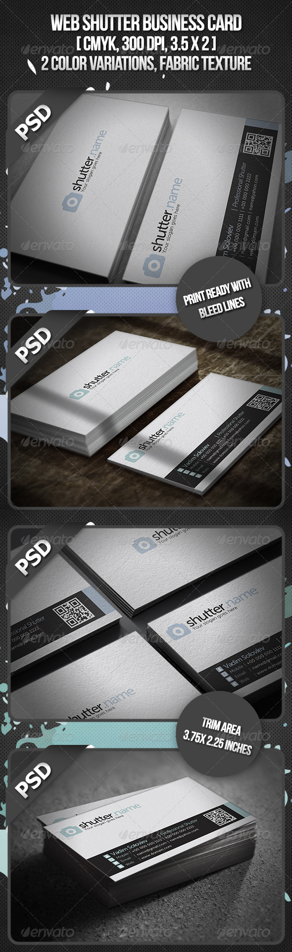 Web Shutter Business Card - Corporate Business Cards