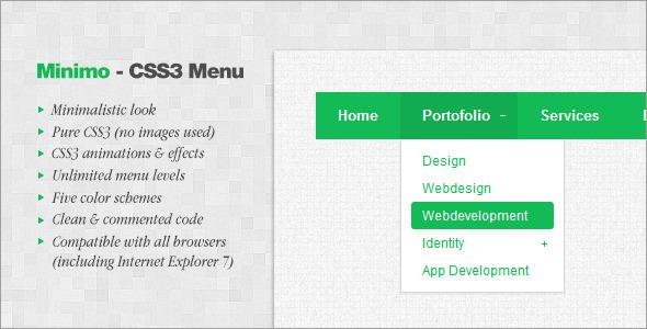 CodeCanyon Minimo CSS3 Menu 3033347