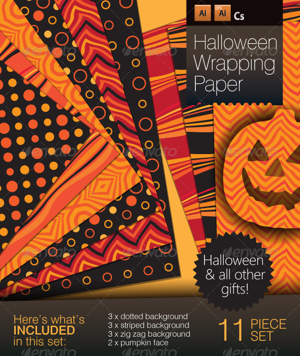 Halloween Wraping Paper - Backgrounds Decorative