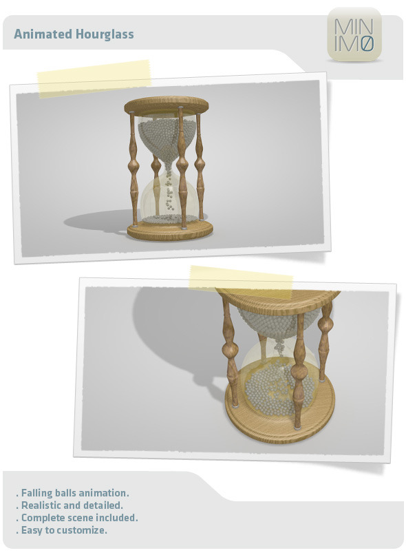 3DOcean Animated Hourglass 3065724