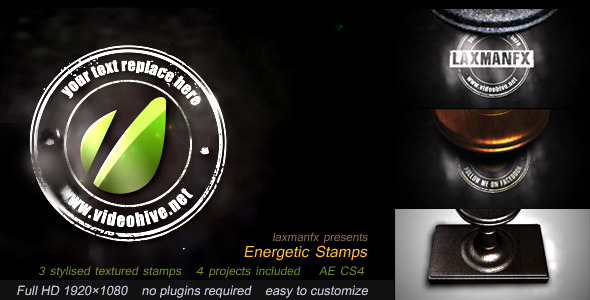 After Effects Project - VideoHive Energetic Stamps 3052898