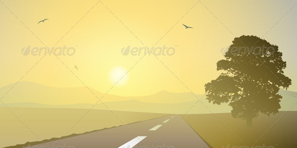 Landscape with Road - Landscapes Nature